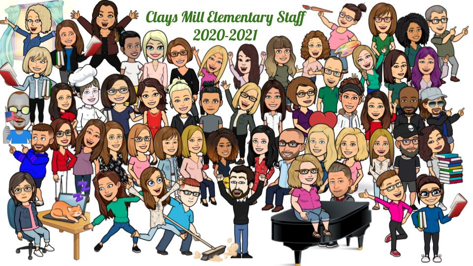 Clays Mill Staff Bitmoji 2020-21